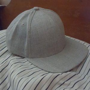 Plain Gray Snapback Hat